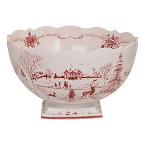 Juliska - Country Estate Winter Frolic Ruby Centerpiece Bowl
