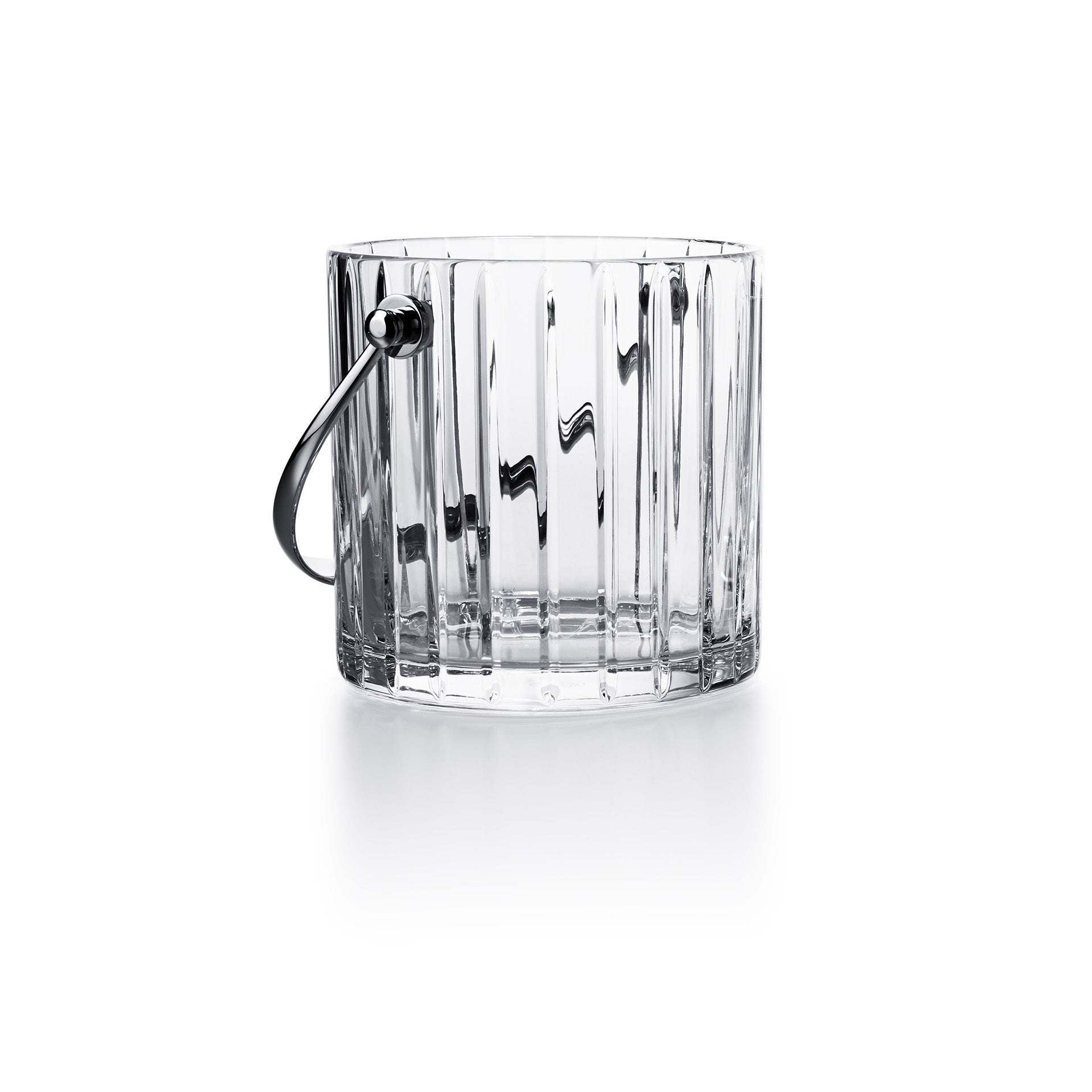 Baccarat - Crystal Harmonie Ice Bucket with Stainless Steel Handles