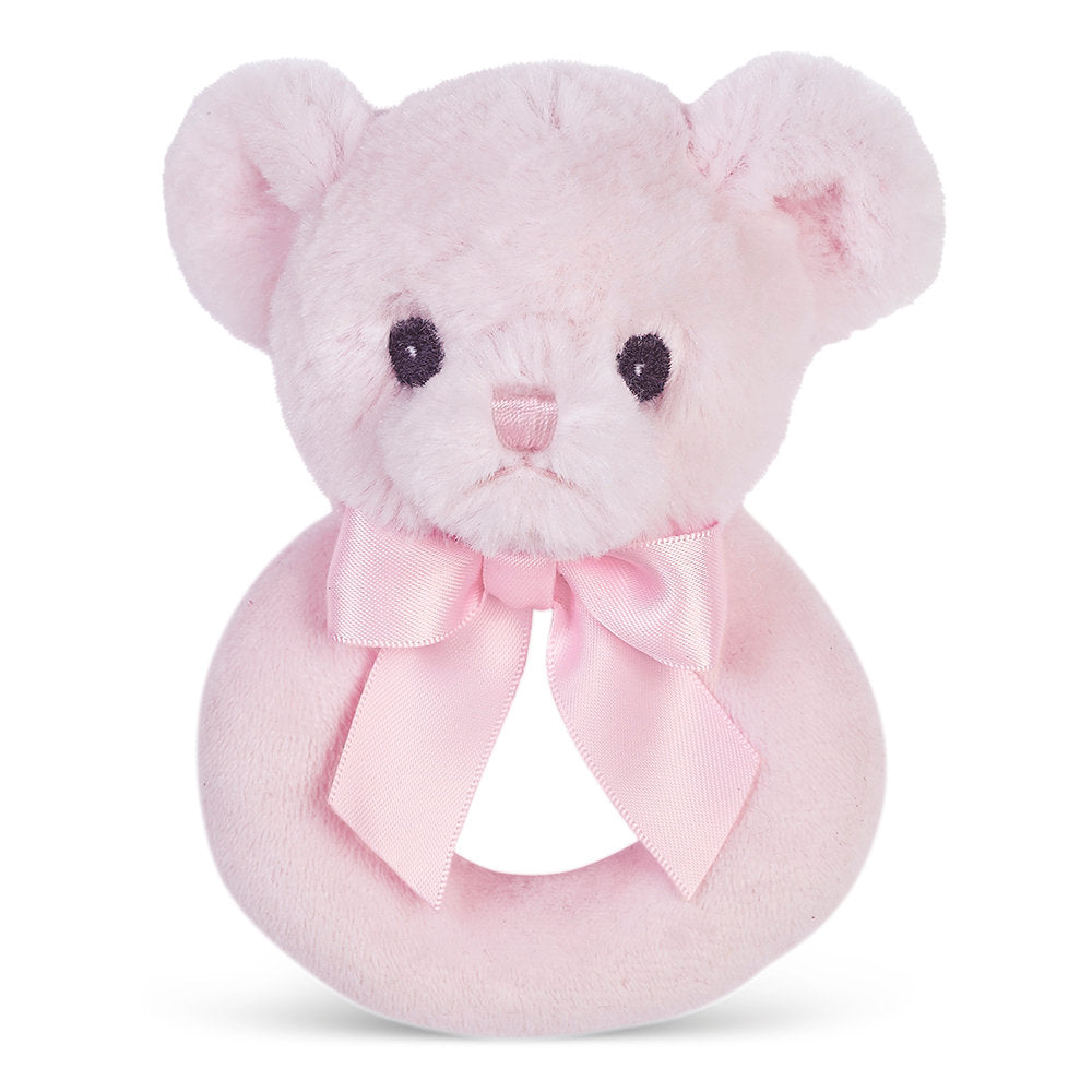 Bearington Baby - Huggie Bear Ring Rattle - Pink