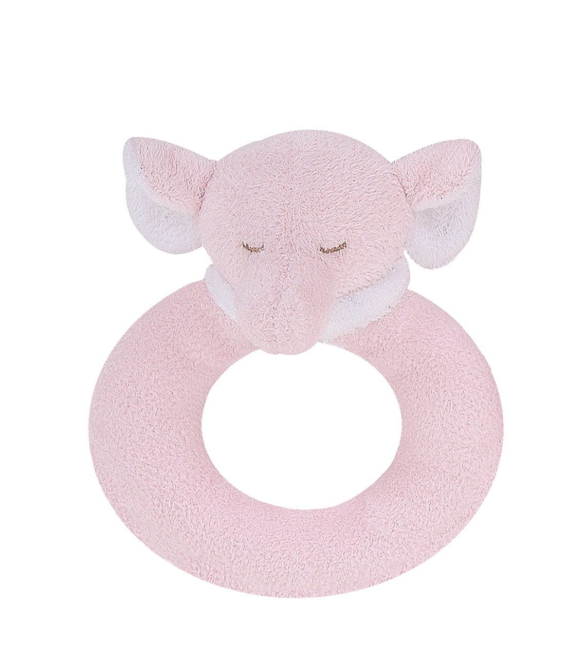 Angel Dear - Ring Rattle - Pink Elephant