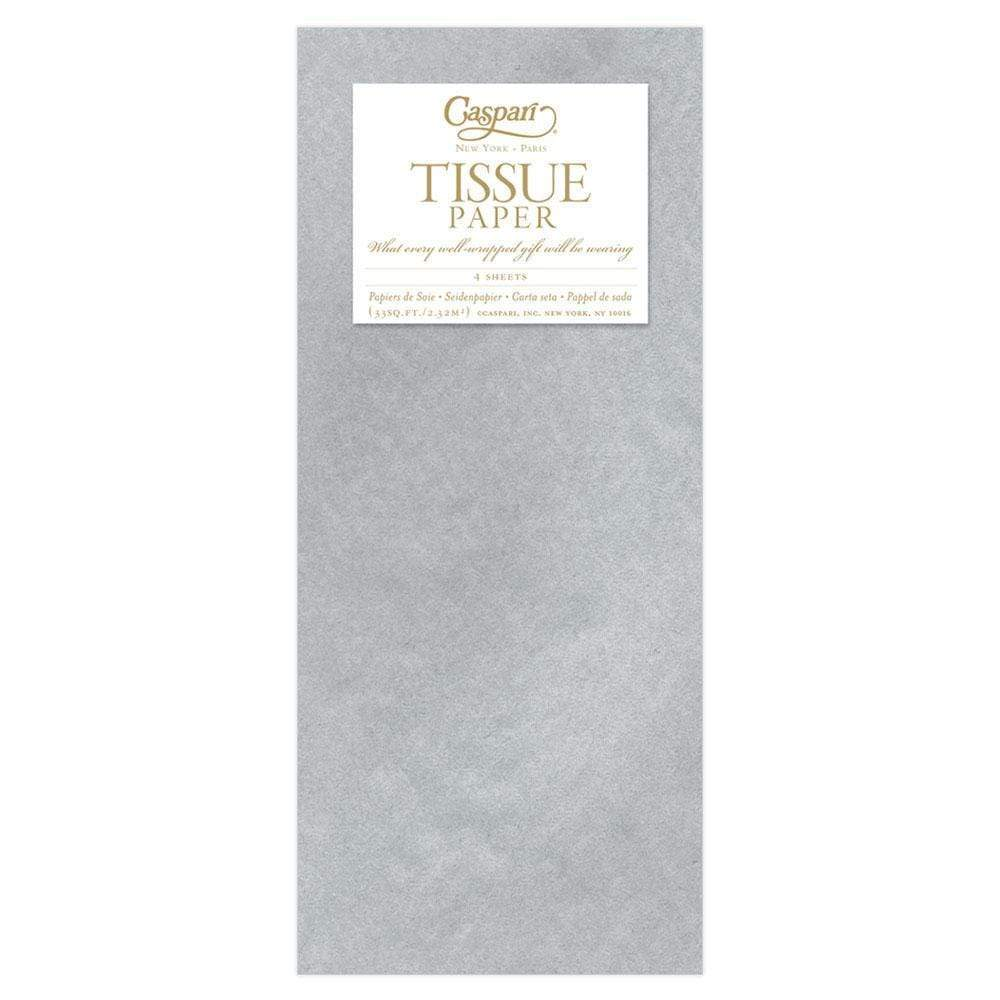Caspari - Metallic Tissue Paper in Silver - 4 Sheets Included