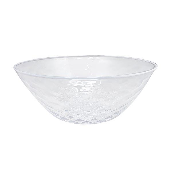 Mariposa - Pineapple Textured Large Bowl, White Rim
