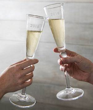 Simon Pearce - Hartland Champagne Flutes (Gift Boxed Set Of 2)