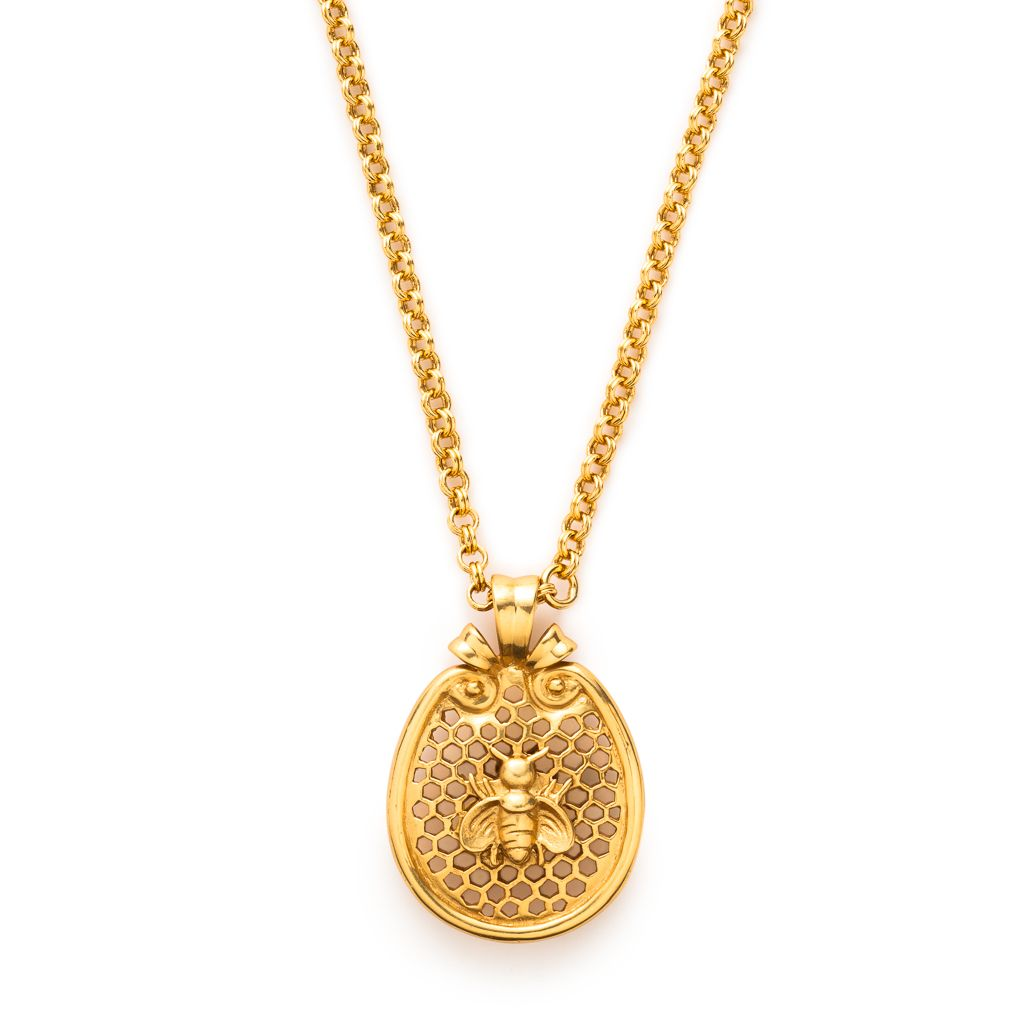Julie Vos - Honeycomb Charm Necklace