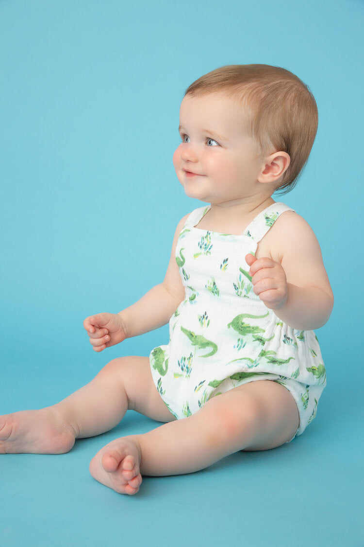 Angel Dear - Sunsuit (Muslin) in Gators