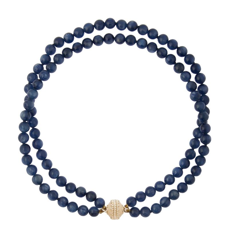 Clara Williams - Victoire 8mm Necklace - Navy