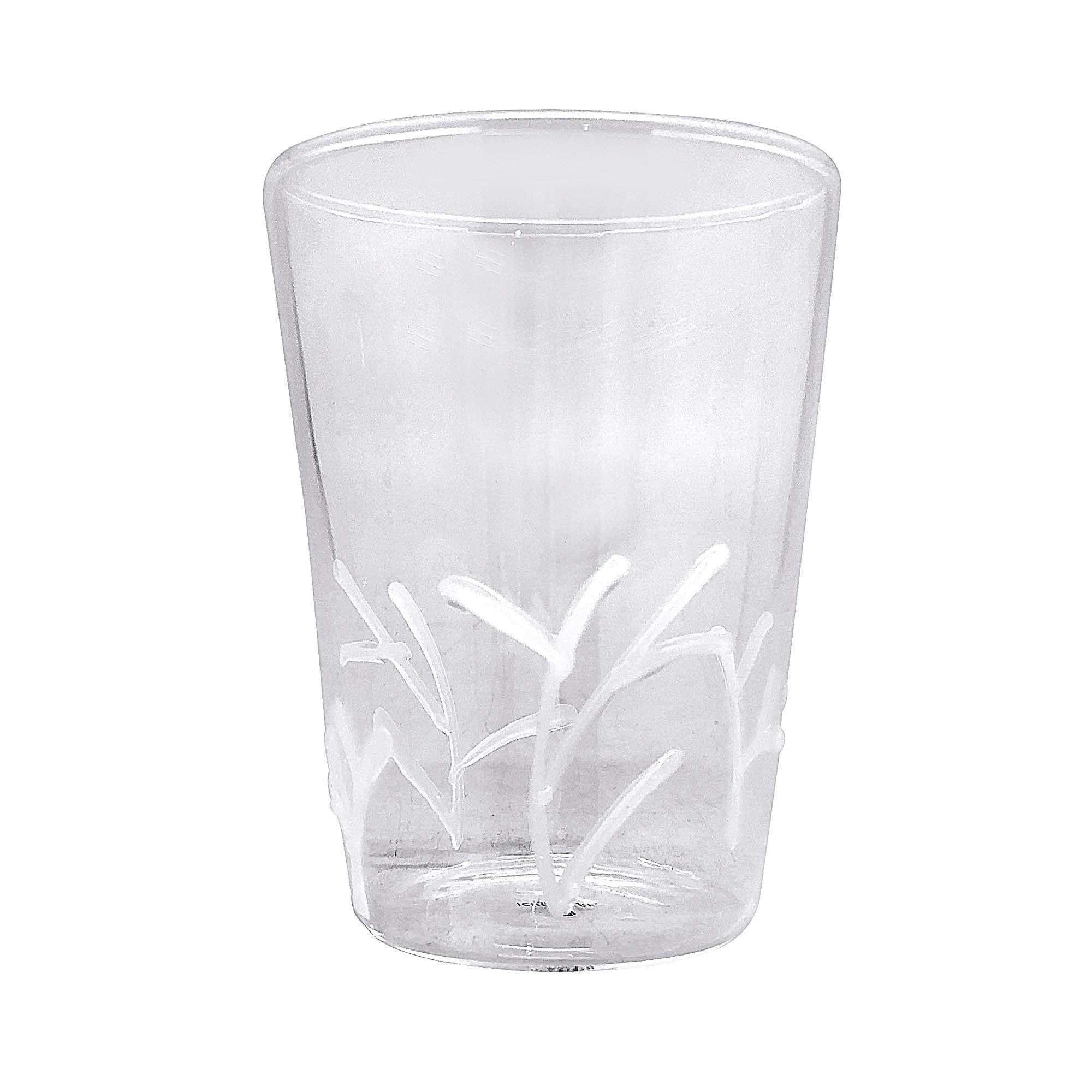 Mariposa - White Appliqué Branches Highball Glass