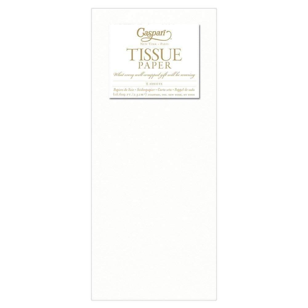 Caspari - Solid Tissue Paper in White - 8 Sheets Included