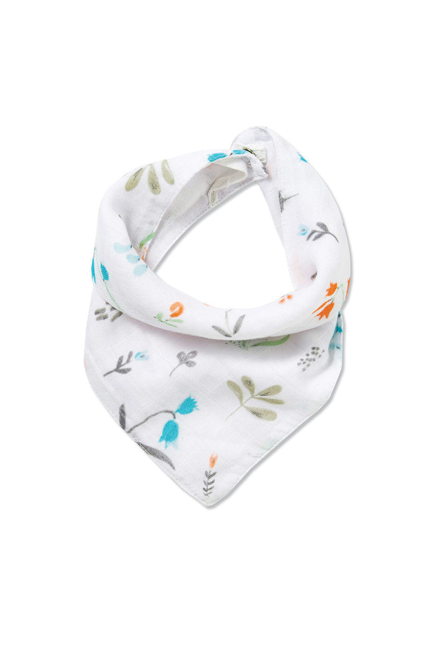 Angel Dear - Bandana Bib in Swan Floral
