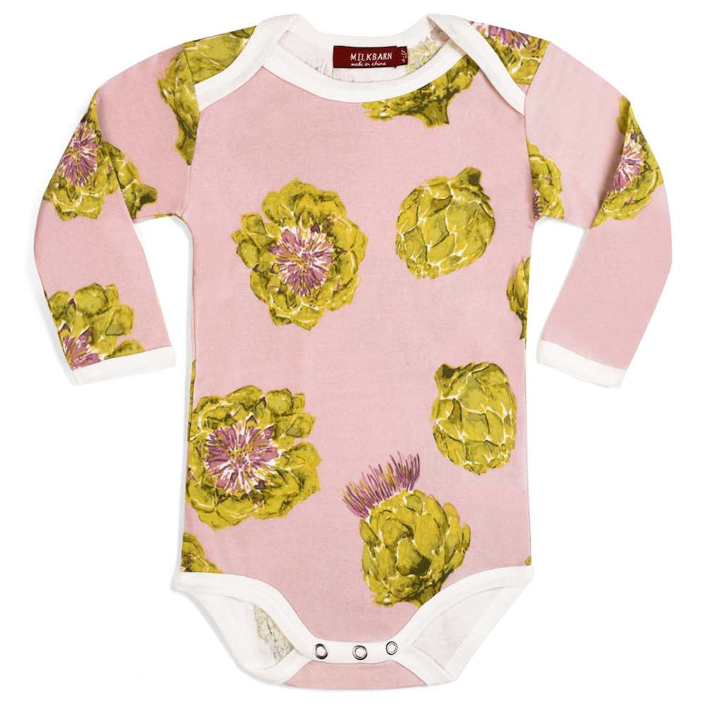 Milkbarn - Organic Long Sleeve One - Piece Artichoke