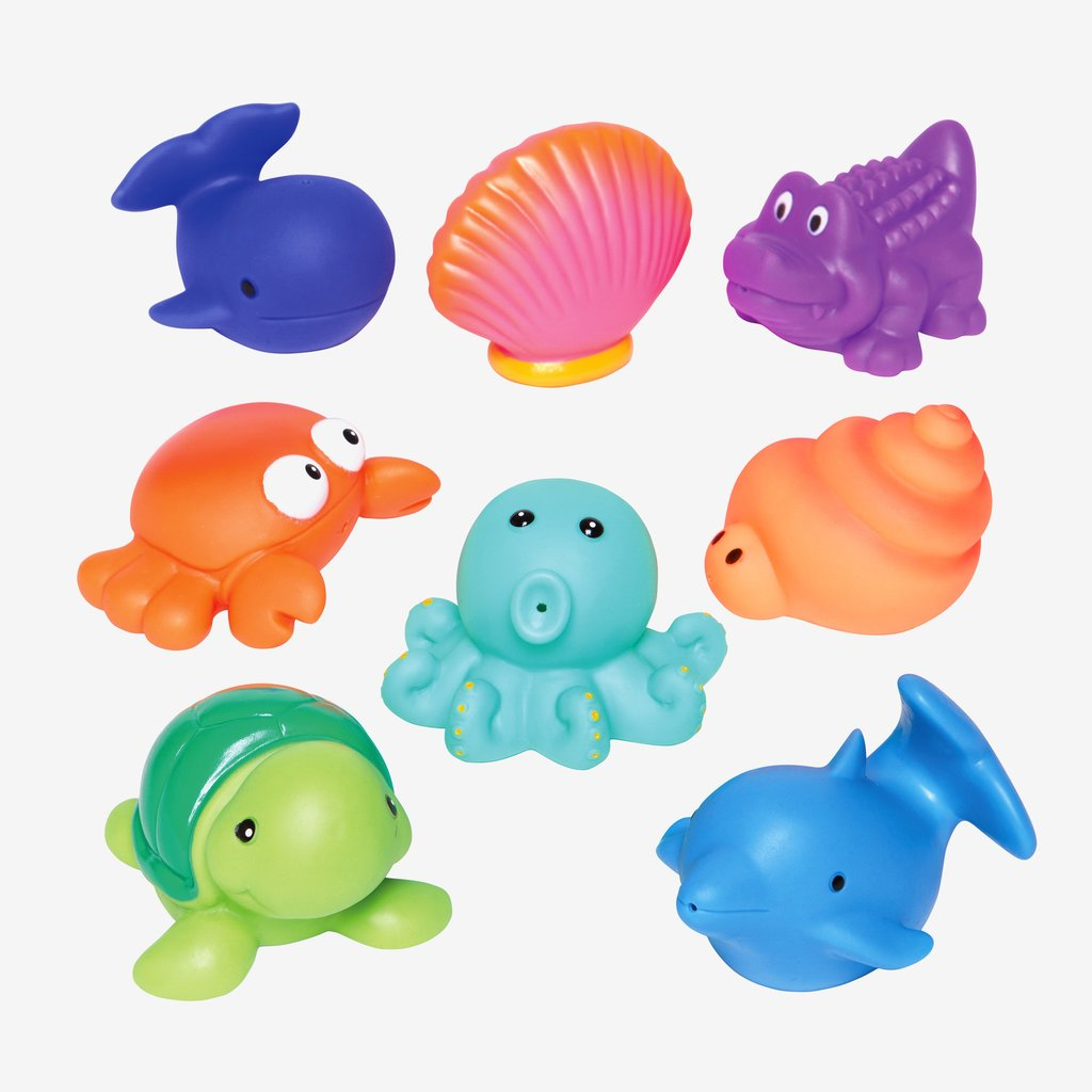 Elegant Baby - Sea Party Squirtie Baby Bath Toys