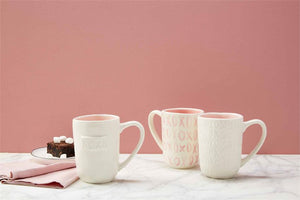 MudPie - Pressed Pattern XOXO Mug