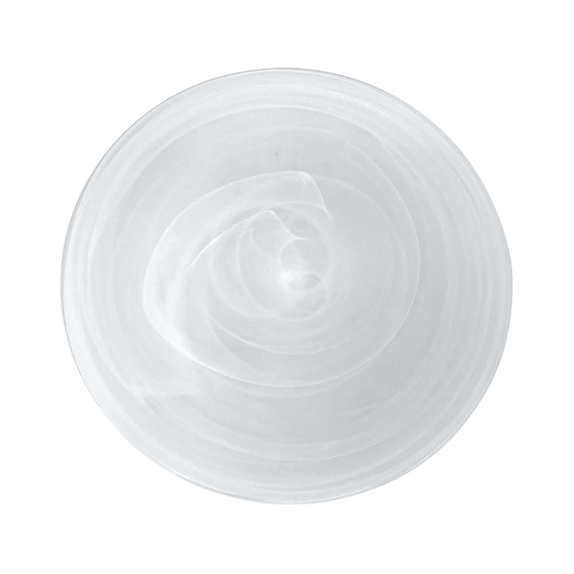Mariposa - White Alabaster Dinner Plate