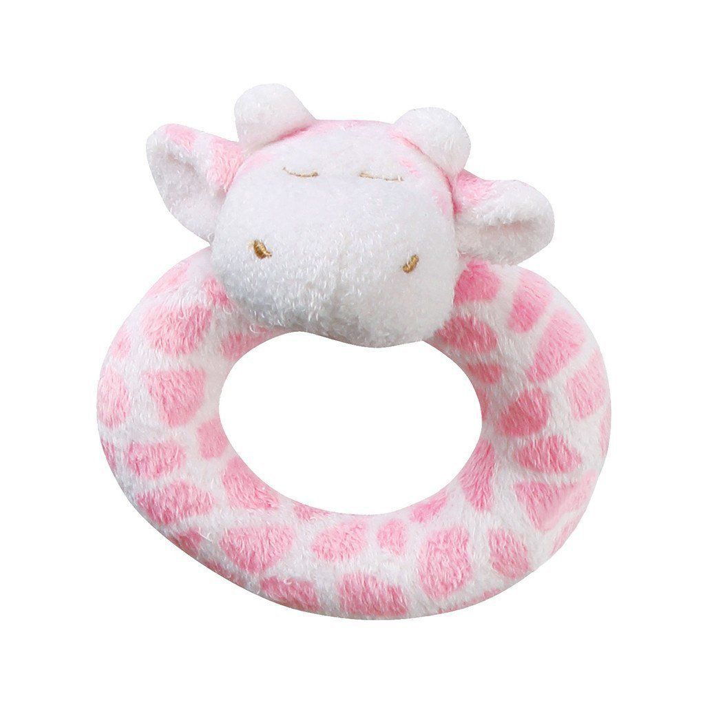 Angel Dear - Ring Rattle - Pink Giraffe