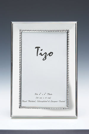 Tizo - Silver Plated Frame with Beaded Border