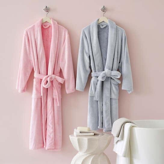 Pine Cone Hill - Frosted Fleece Long Bath Robe - Aqua