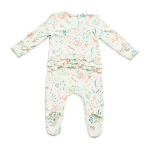 Angel Dear - Zipper Fottie (Ruffles) in Woodland Floral