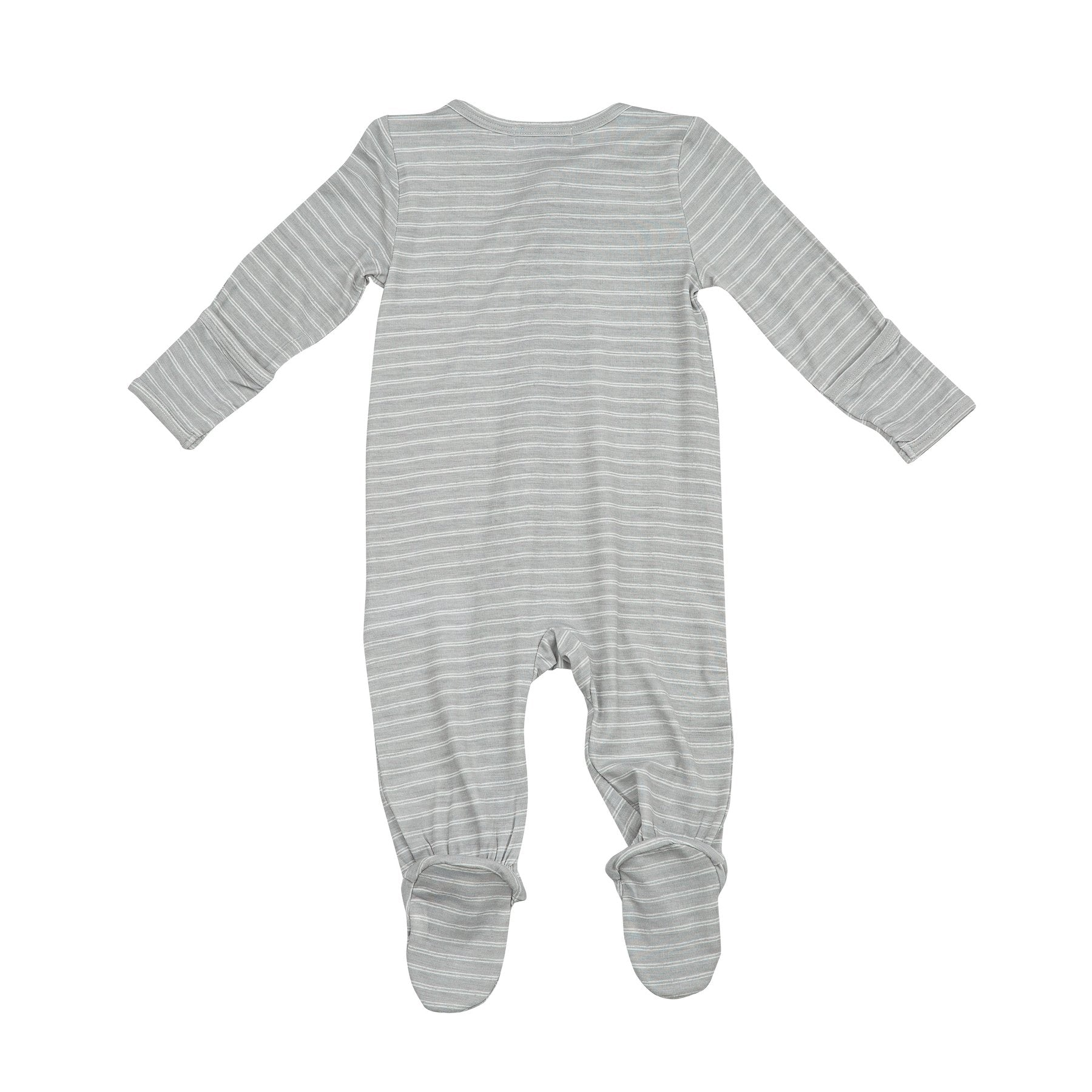Angel Dear - Hippo Zipper Footie - Grey Stripe