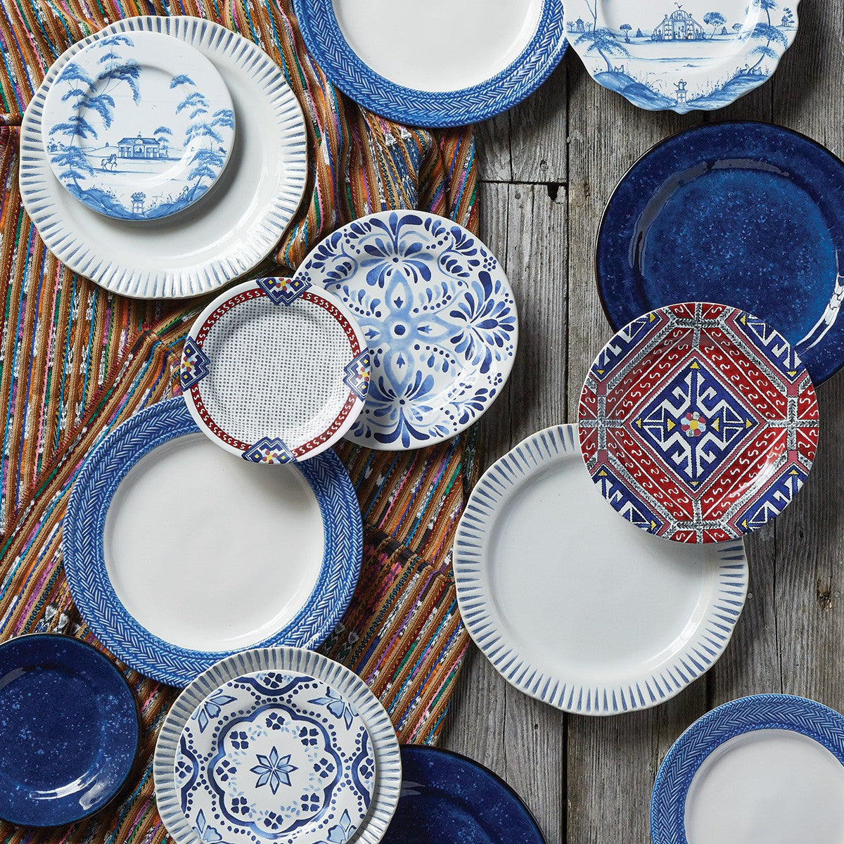 Juliska - Sitio Stripe Indigo Dinner Plate
