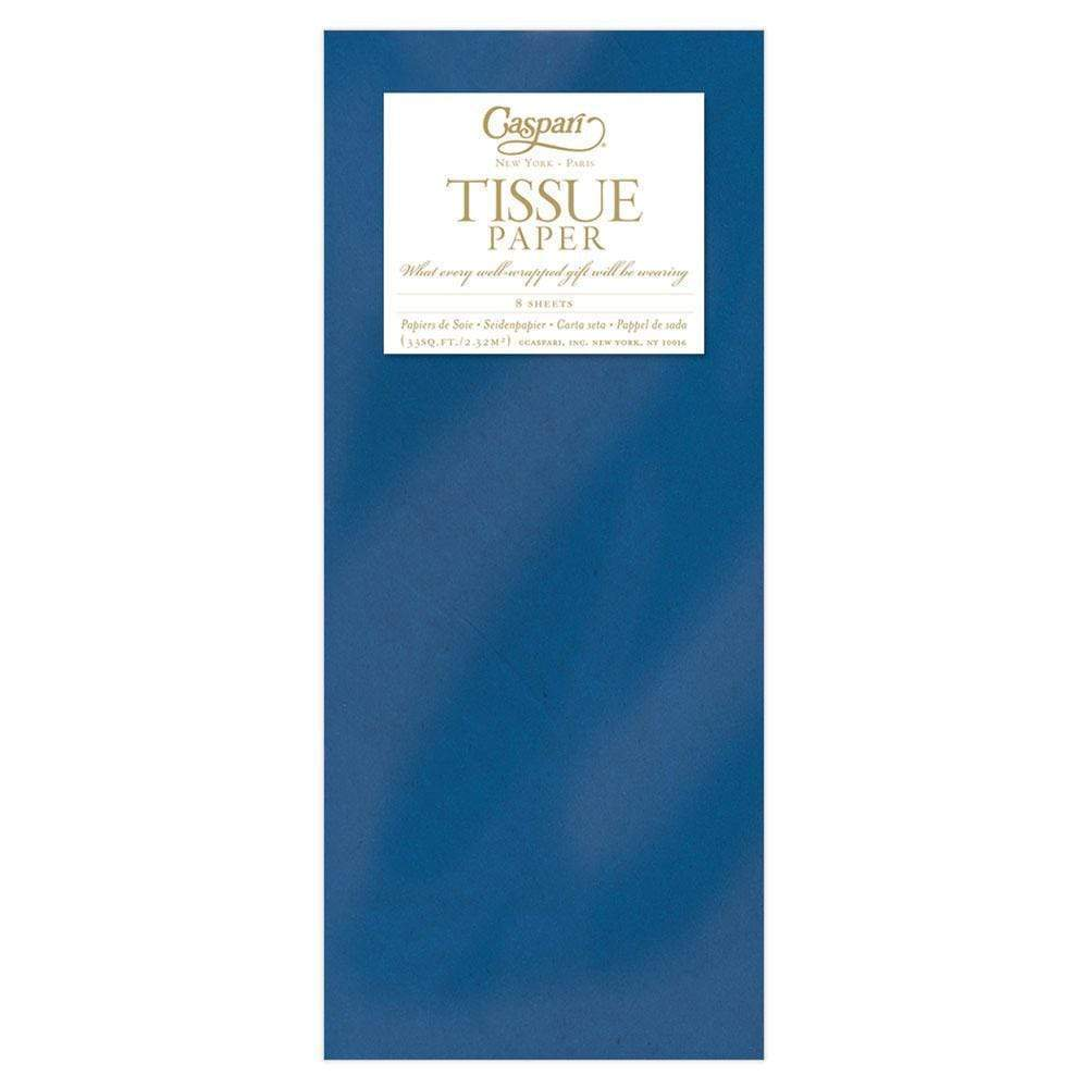 Caspari - Solid Tissue Paper in Marine Blue - 8 Sheets Included