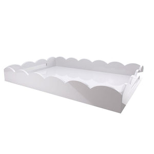 Addison Ross - White Large Scallop Serving Tray