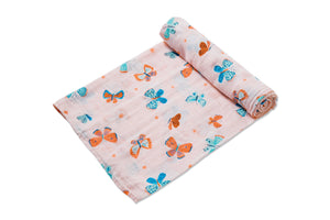 Angel Dear - Swaddle Blanket in Butterflies - Muslin