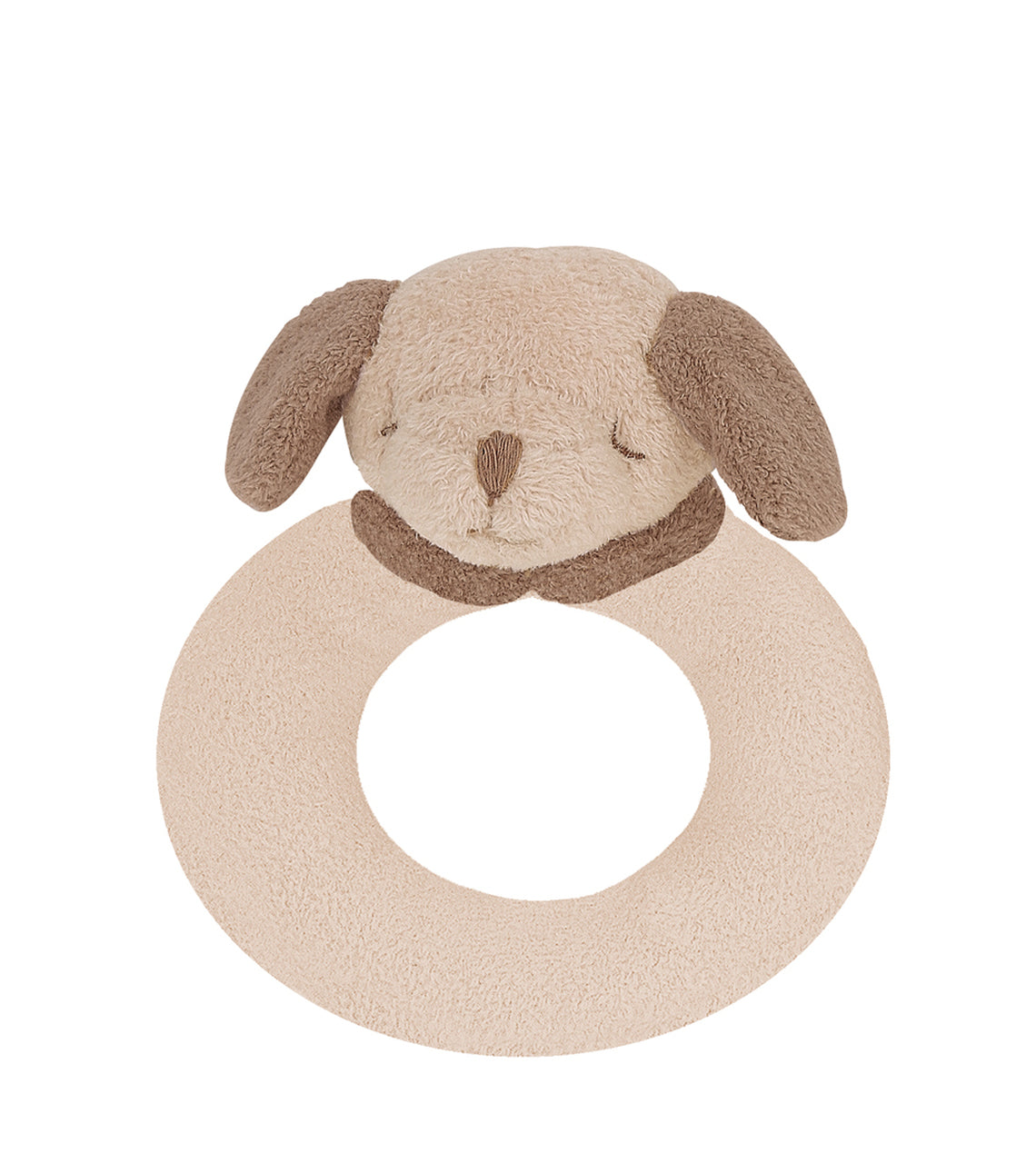 Angel Dear - Ring Rattle - Brown Puppy