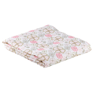 "Stephen Baby - Cotton + Viscose Swaddle Blanket, 45"" x 45"", Playful Posies"