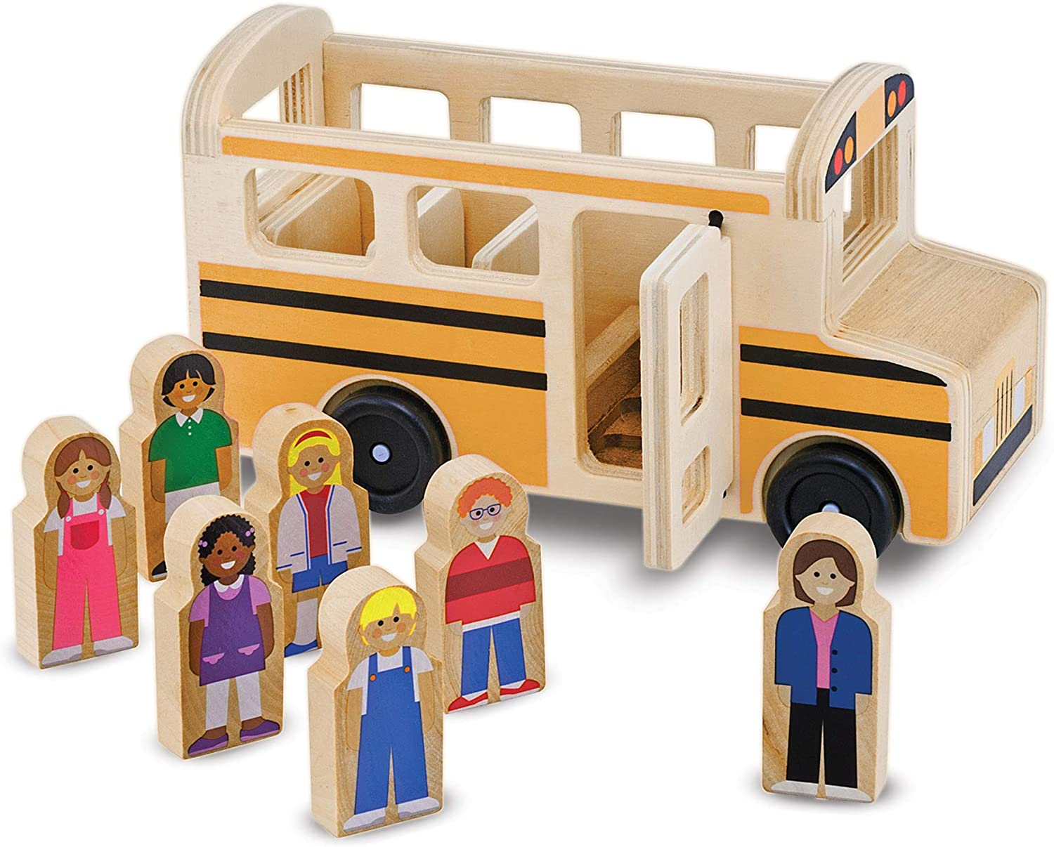 Melissa & Doug - Wooden Classic School Bus