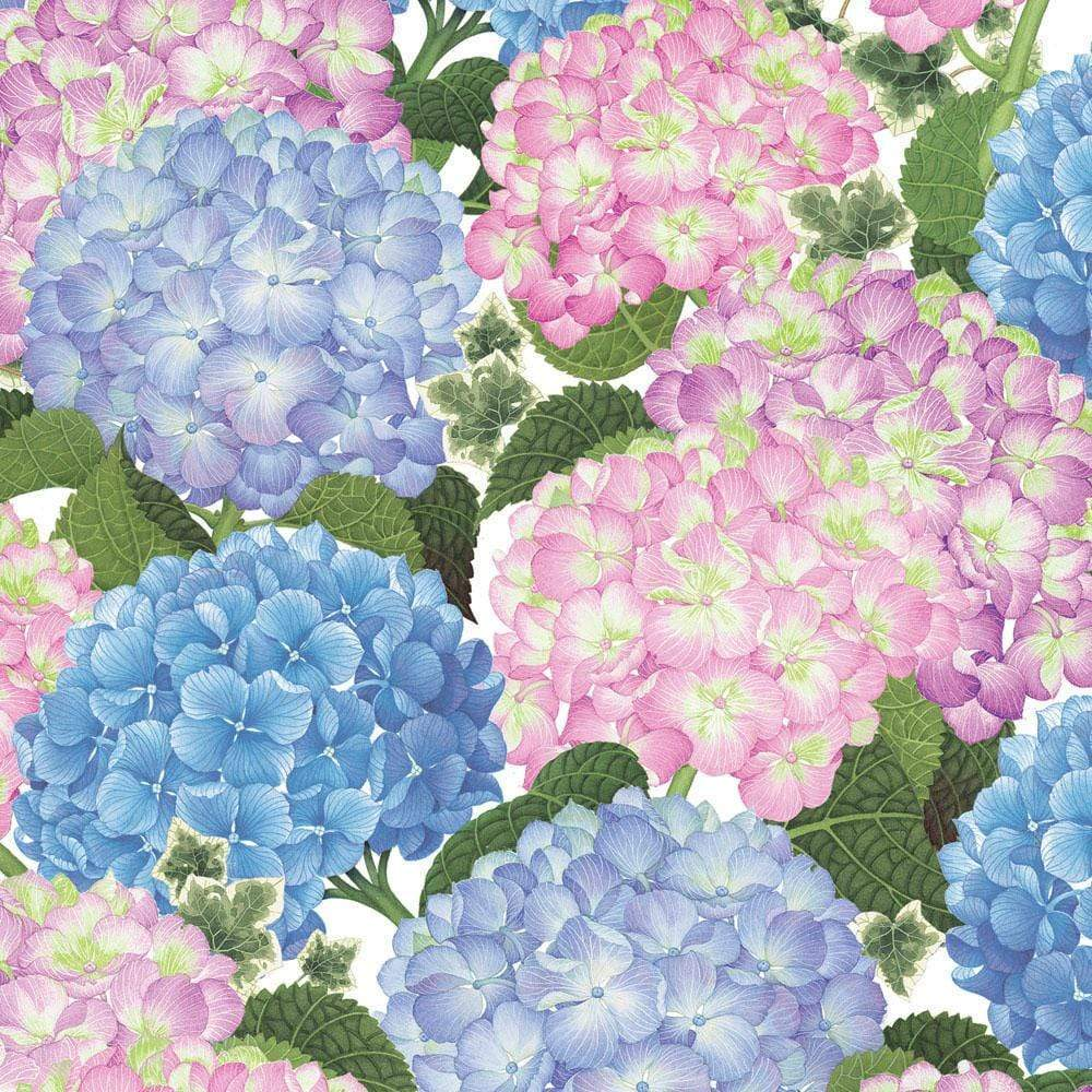 "Caspari - Hydrangeas Gift Wrap Sheets on Roll - Two 40"" x 28"" Sheets on Roll"