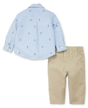 Little Me - Nautical Woven Pant Set