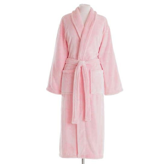 Pine Cone Hill - Frosted Fleece Long Bath Robe - Melon
