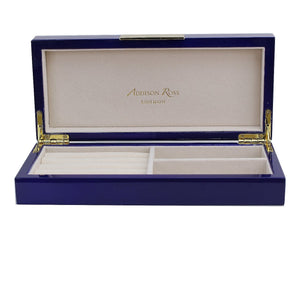 Addison Ross - Navy Lacquer Box With Gold