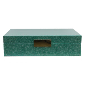 Addison Ross - Large Green Shagreen Lacquer Box With Gold