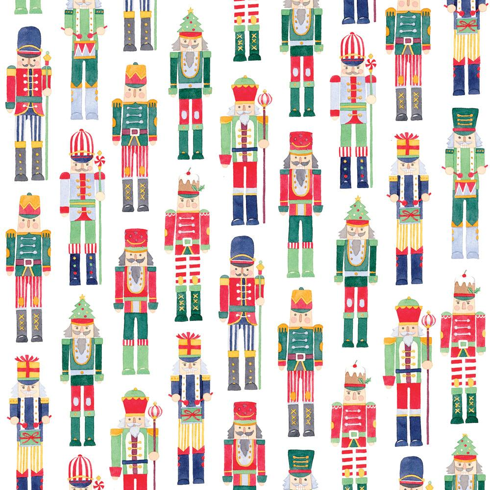 "Caspari - March of the Nutcrackers Gift Wrapping Paper - 30"" x 8' Roll"