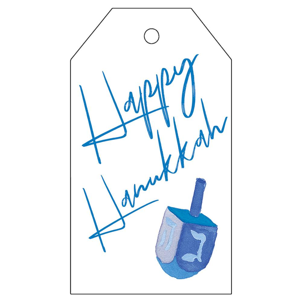 Caspari - Happy Hanukkah Classic Foil Gift Tags - 4 Per Package