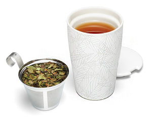 Tea Forte - Kati Steeping Cup & Infuser Blanche