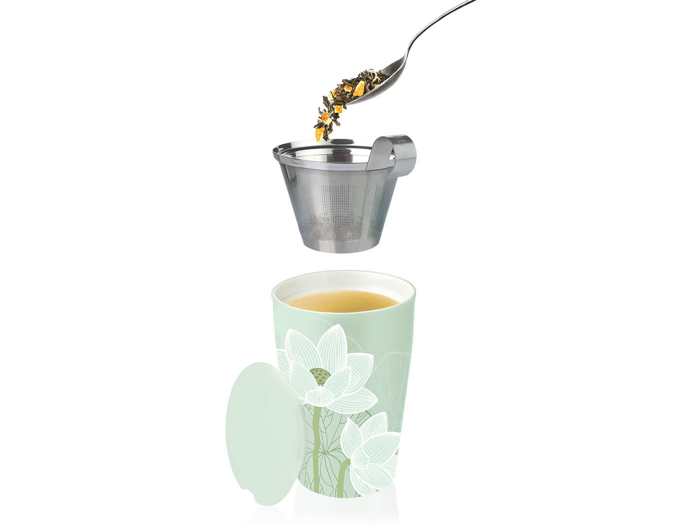 Tea Forte - Kati Steeping Cup & Infuser Lotus