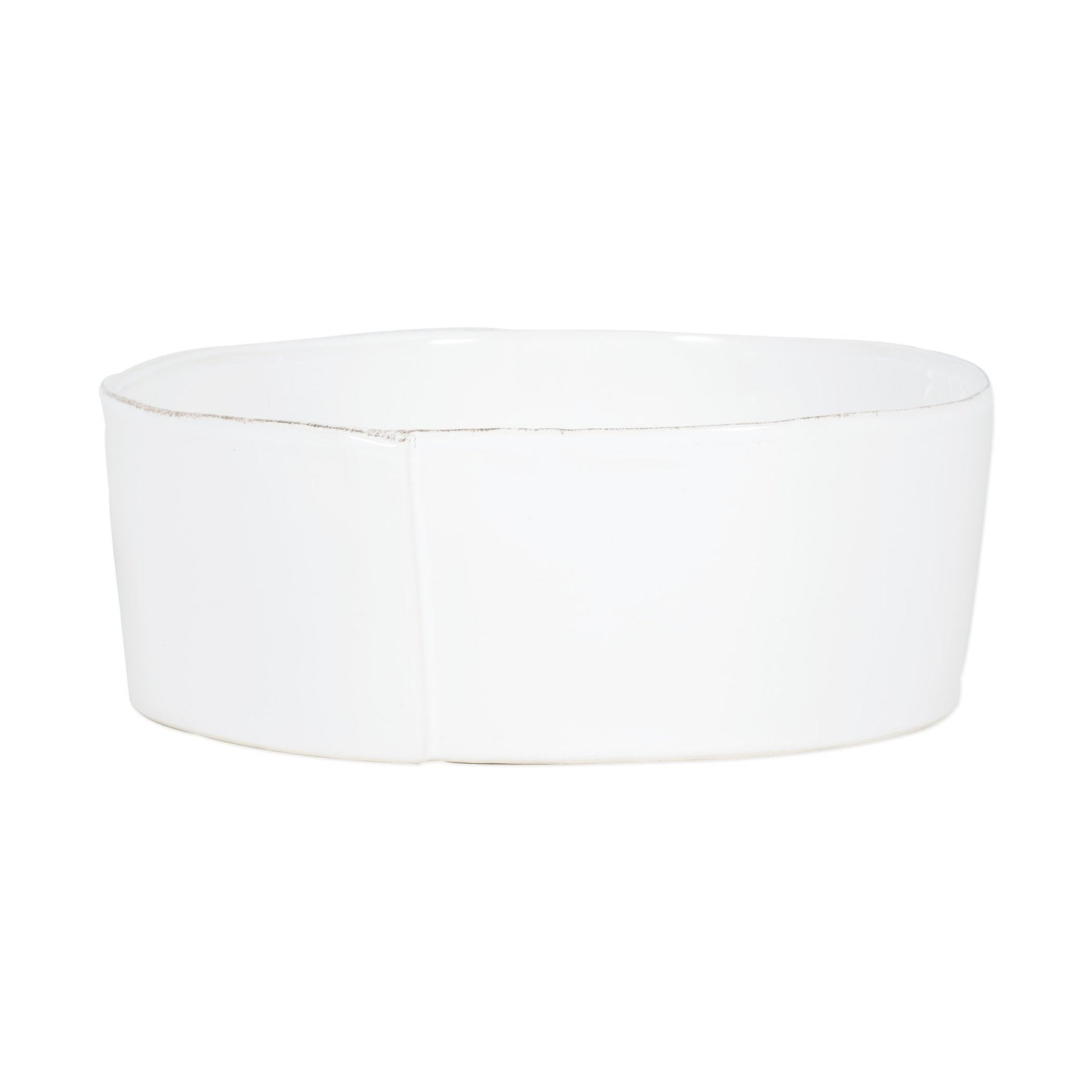 Vietri - Lastra Large Serving Bowl - White