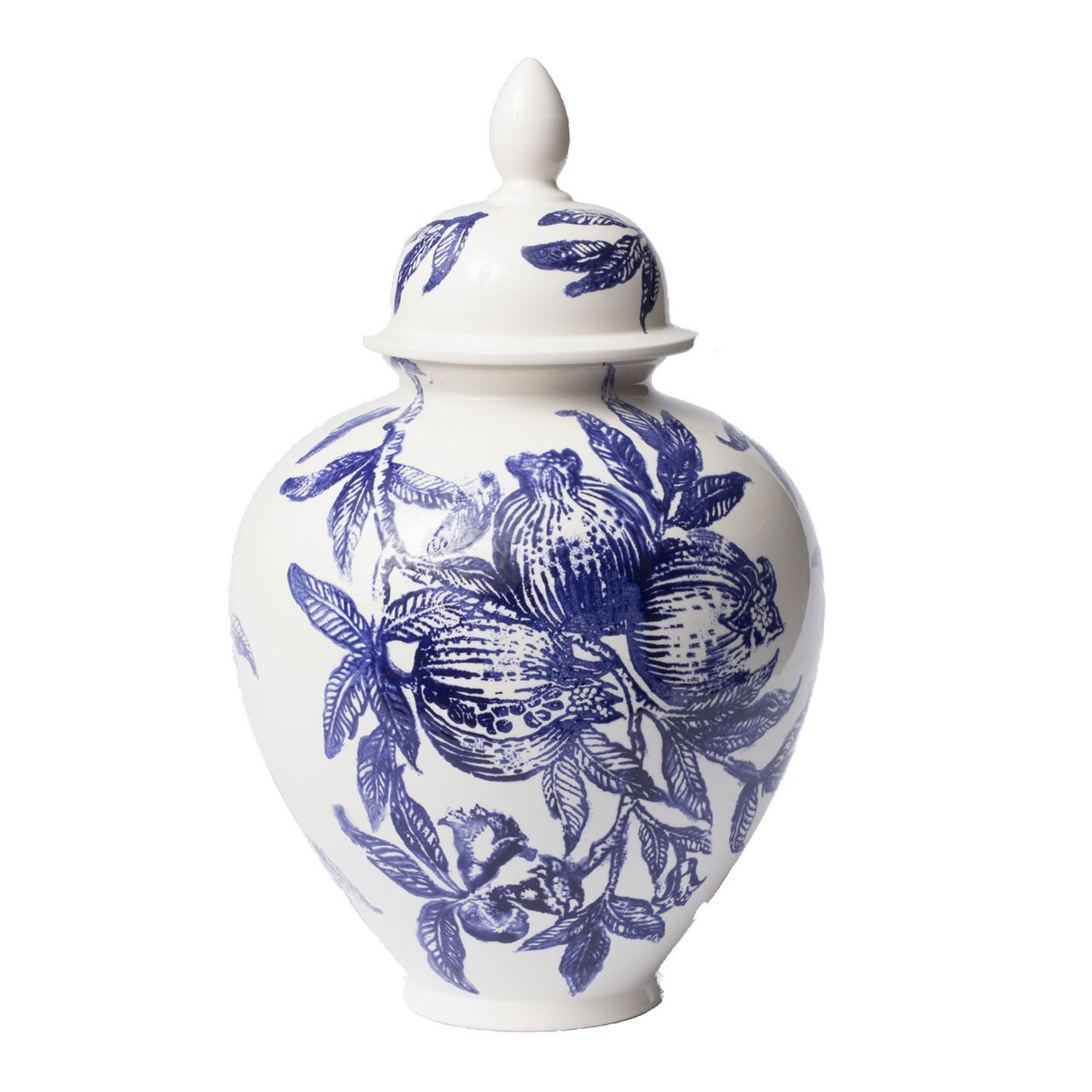 Vietri - Melagrana Blue Large Ginger Jar