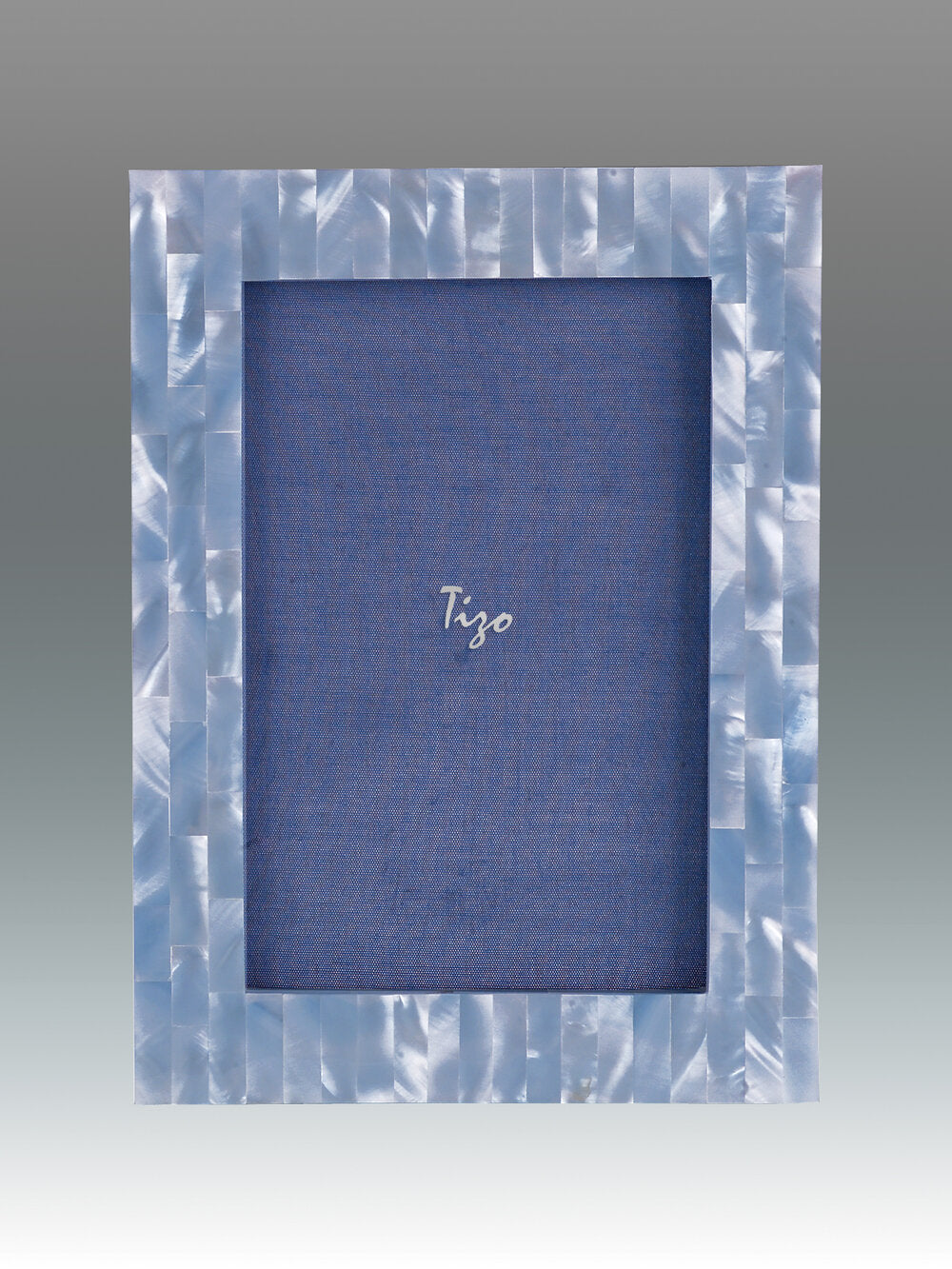 Tizo - Mother of Pearl Picture Frame - Blue