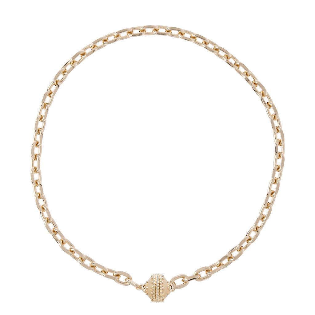 "Clara Williams - Sheridan 14K Gold Plated Necklace, 1 Strand, 16.5""L"