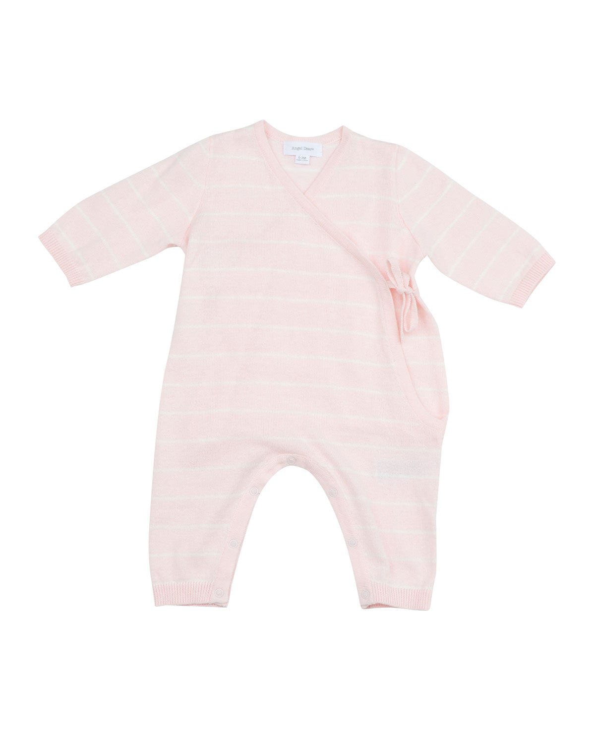 Angel Dear - Euro Knit Kimono Wrap Romper - Light Pink