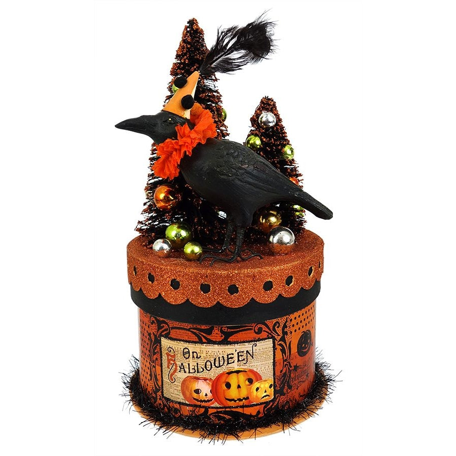 Bethany Lowe - Party Crow On A Box