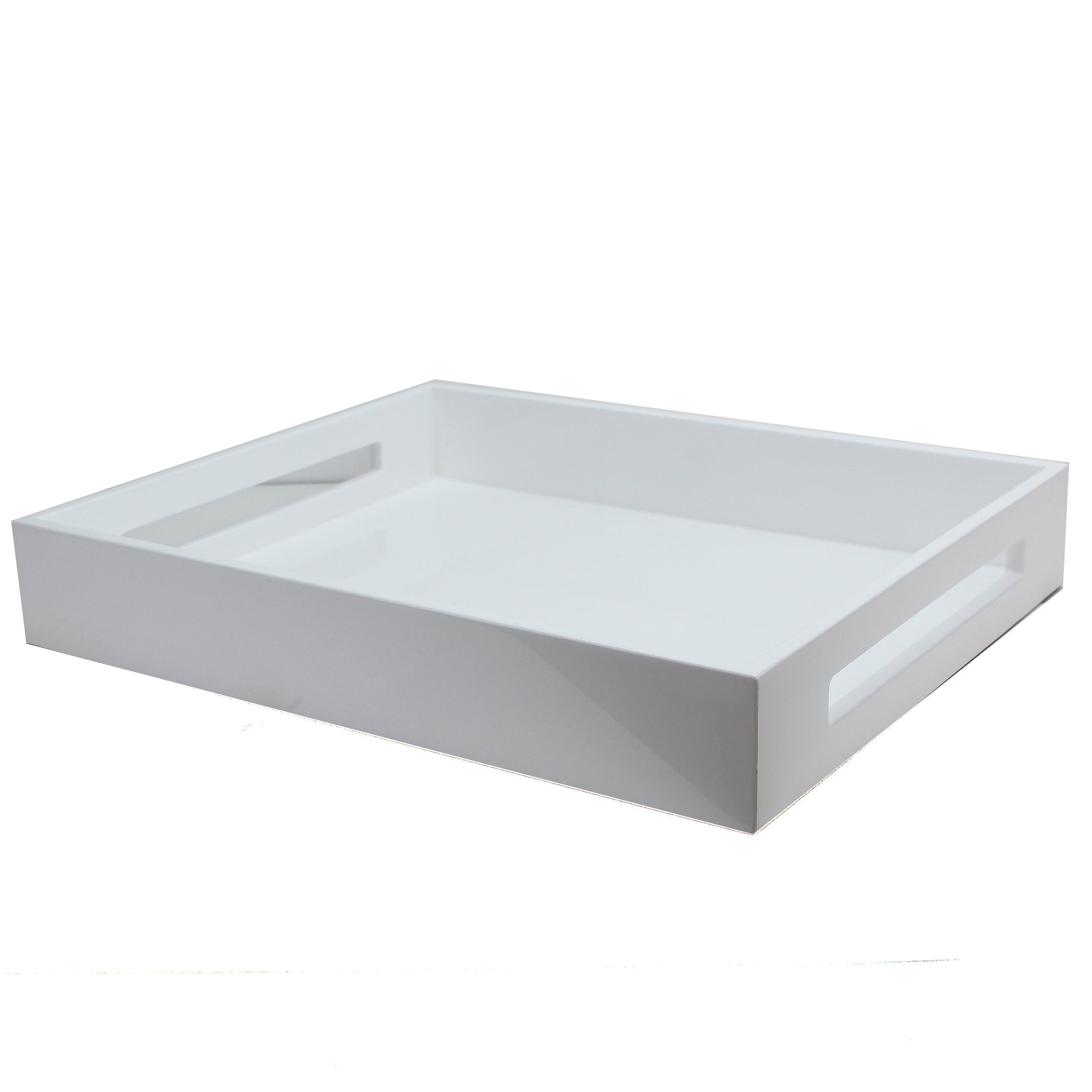 Addison Ross - 16x14 White Medium Lacquered Serving Tray