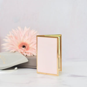 Addison Ross - Pastel Pink & Gold Travel Frame