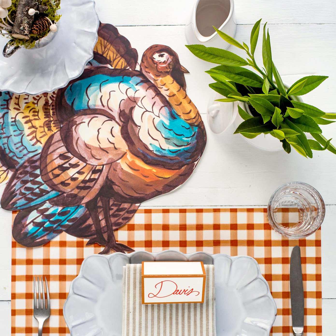Hester & Cook - Die Cut Thanksgiving Turkey Placemat