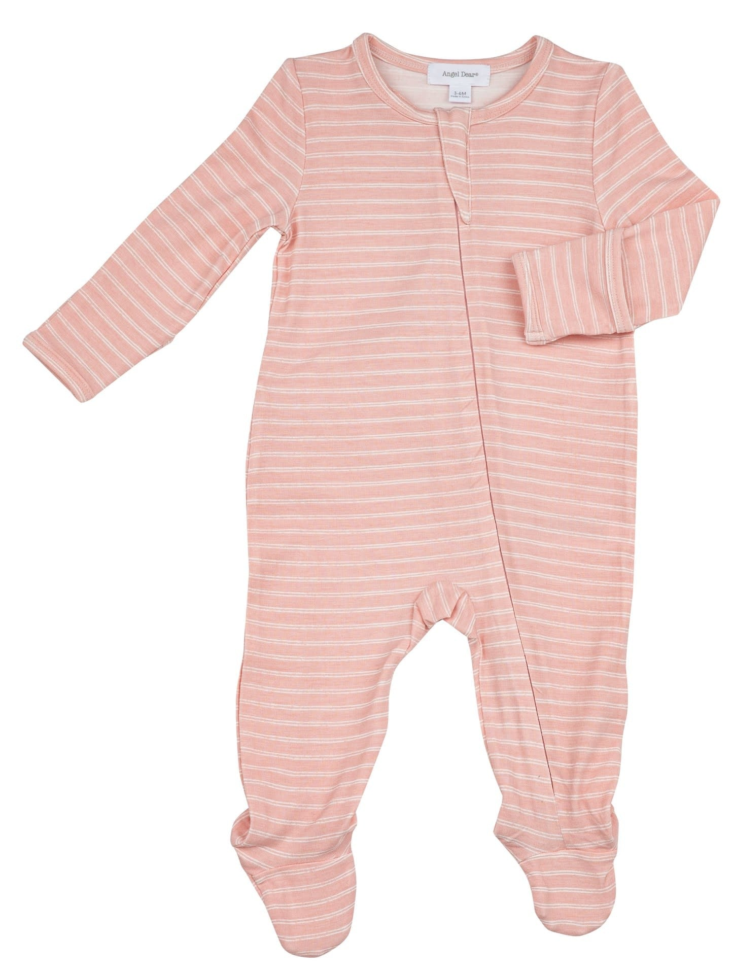 Angel Dear - Hippo Zipper Footie - Pink Stripe