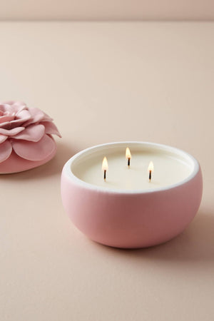 Illume - Thai Lily Ceramic Flower Candle