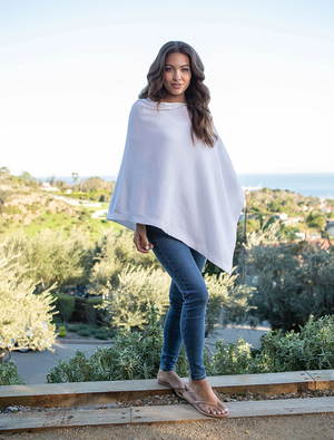 Barefoot Dreams - CozyChic Ultra Lite Poncho - Sea Salt - One Size